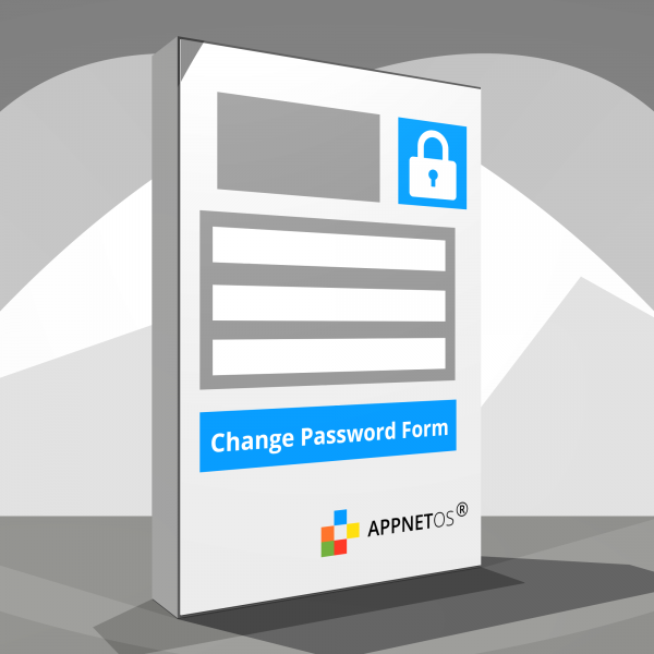 APPNET OS Change password form