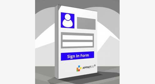 APPNET OS Sign in form