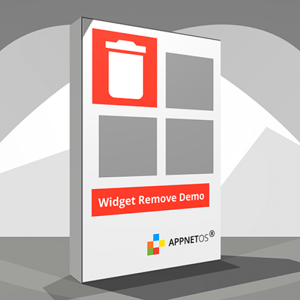 APPNET OS Widget Remove Demo