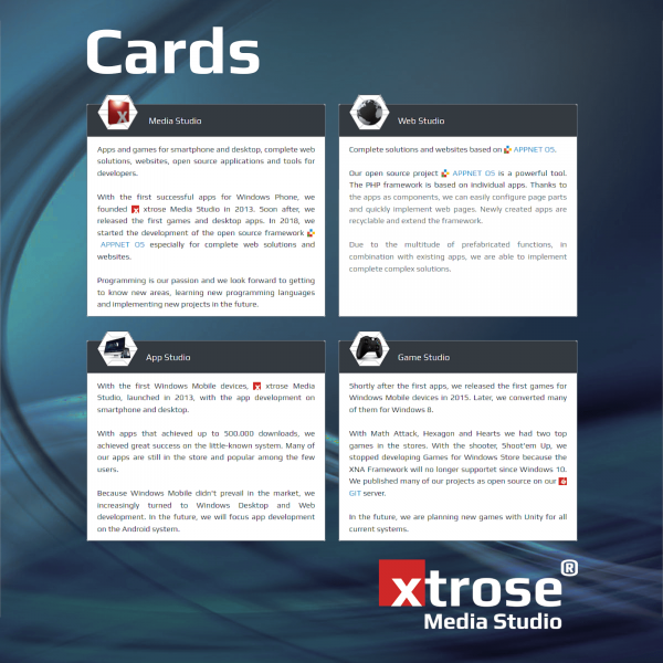 xtrose Cards